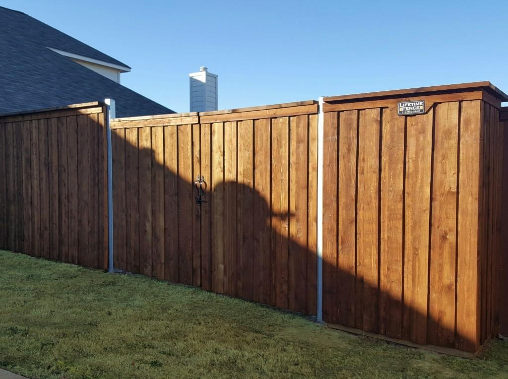 Types Wooden Fences Wood Backyard