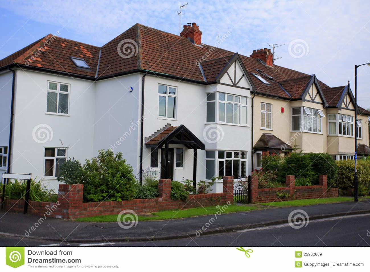 Typical 1930s Semi Detatched House Stock
