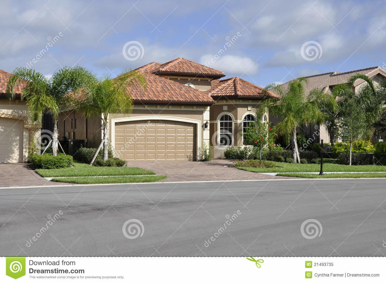 Typical Modern Home Florida Royalty Stock