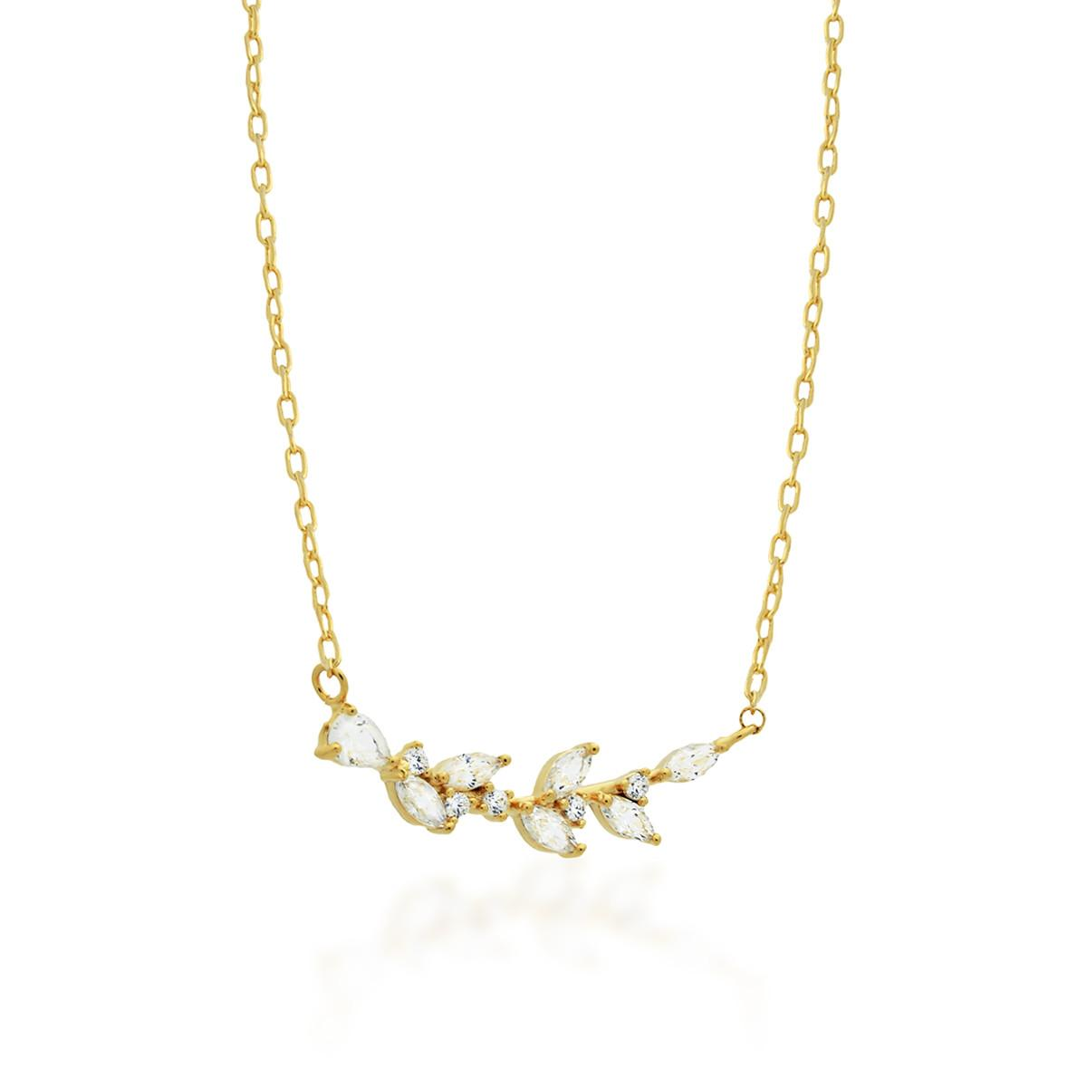 Tzaro Jewelry 14k Gold Filled Twig Necklace Delicate