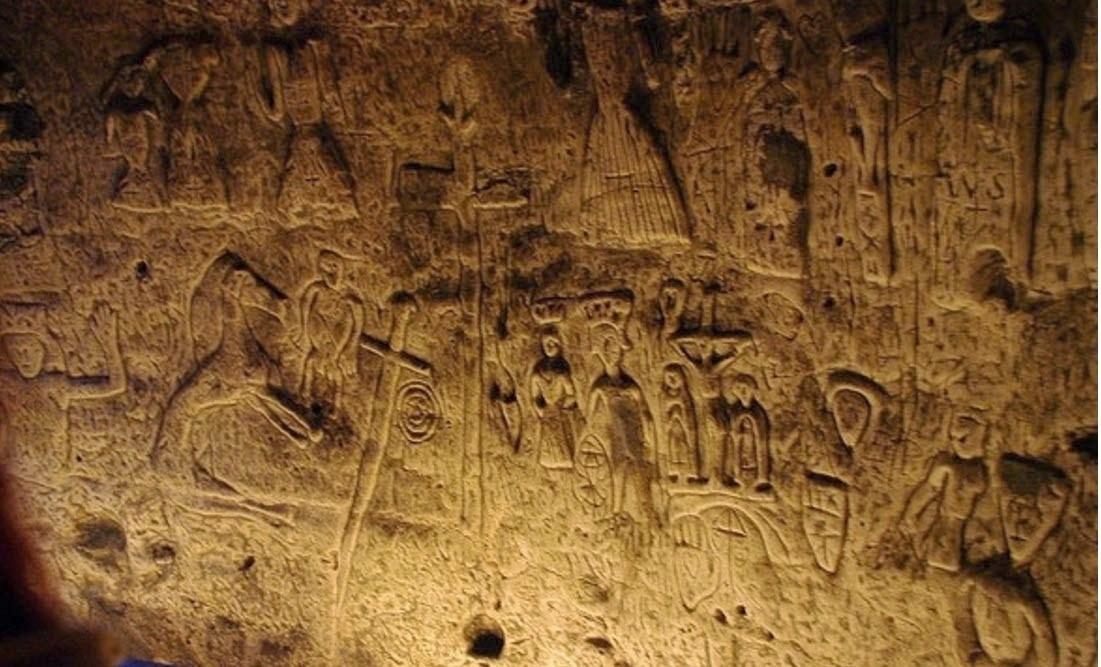 Ufo Mania Enigmatic Symbols Carvings Man Made Cave