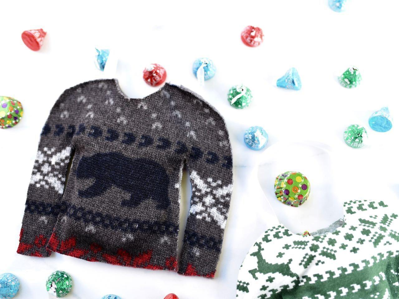 Ugly Christmas Sweater Treat Bags Make Life Lovely