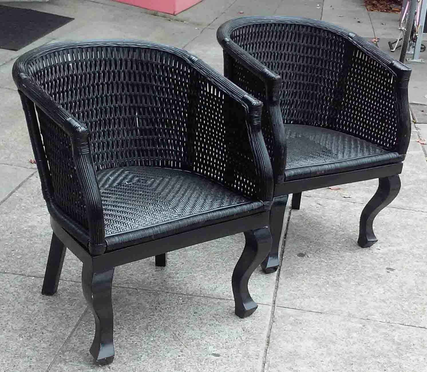 Uhuru Furniture Collectibles Sold Black Wicker Patio