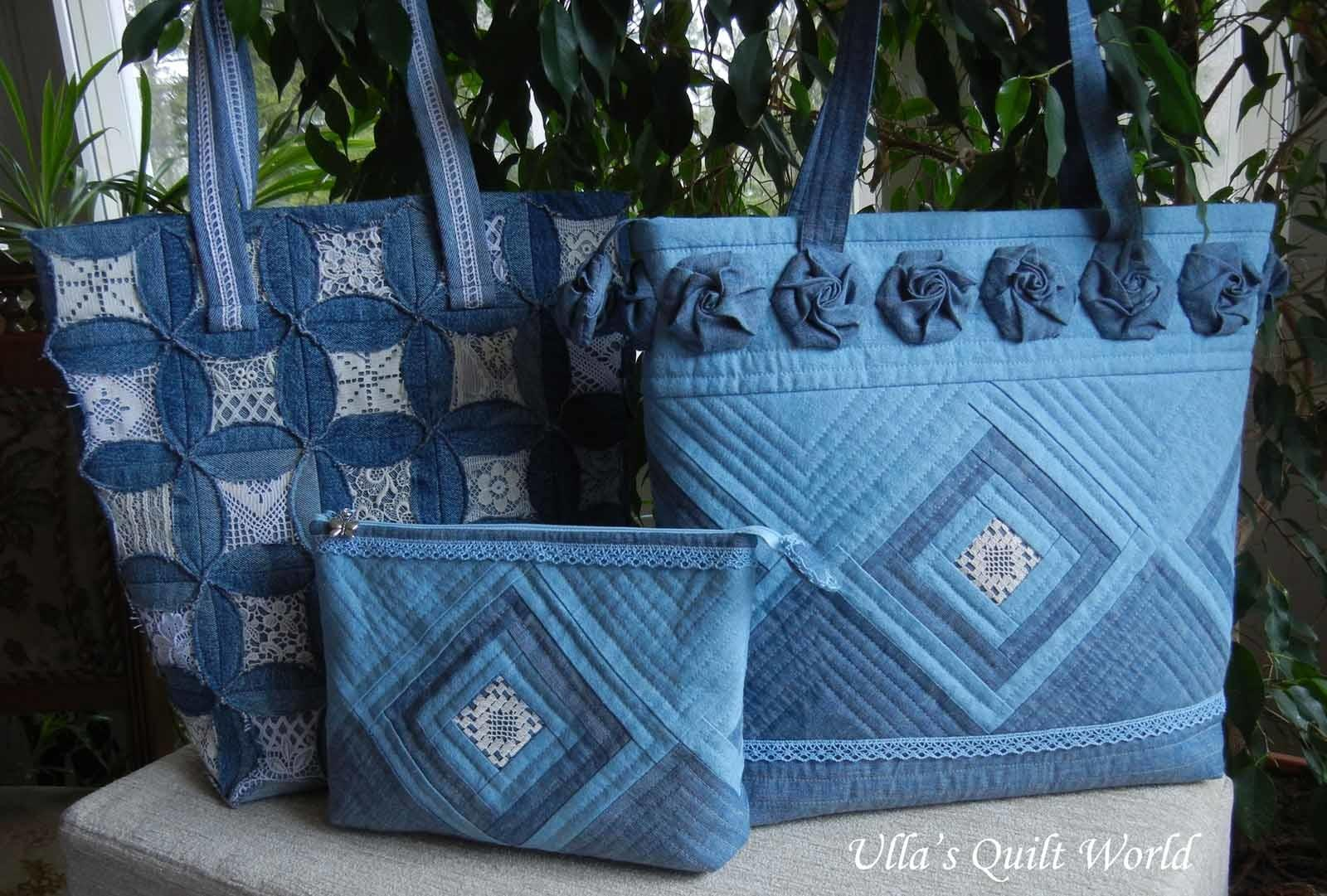 Ulla Quilt World Quilted Pouch Bag Cathedral