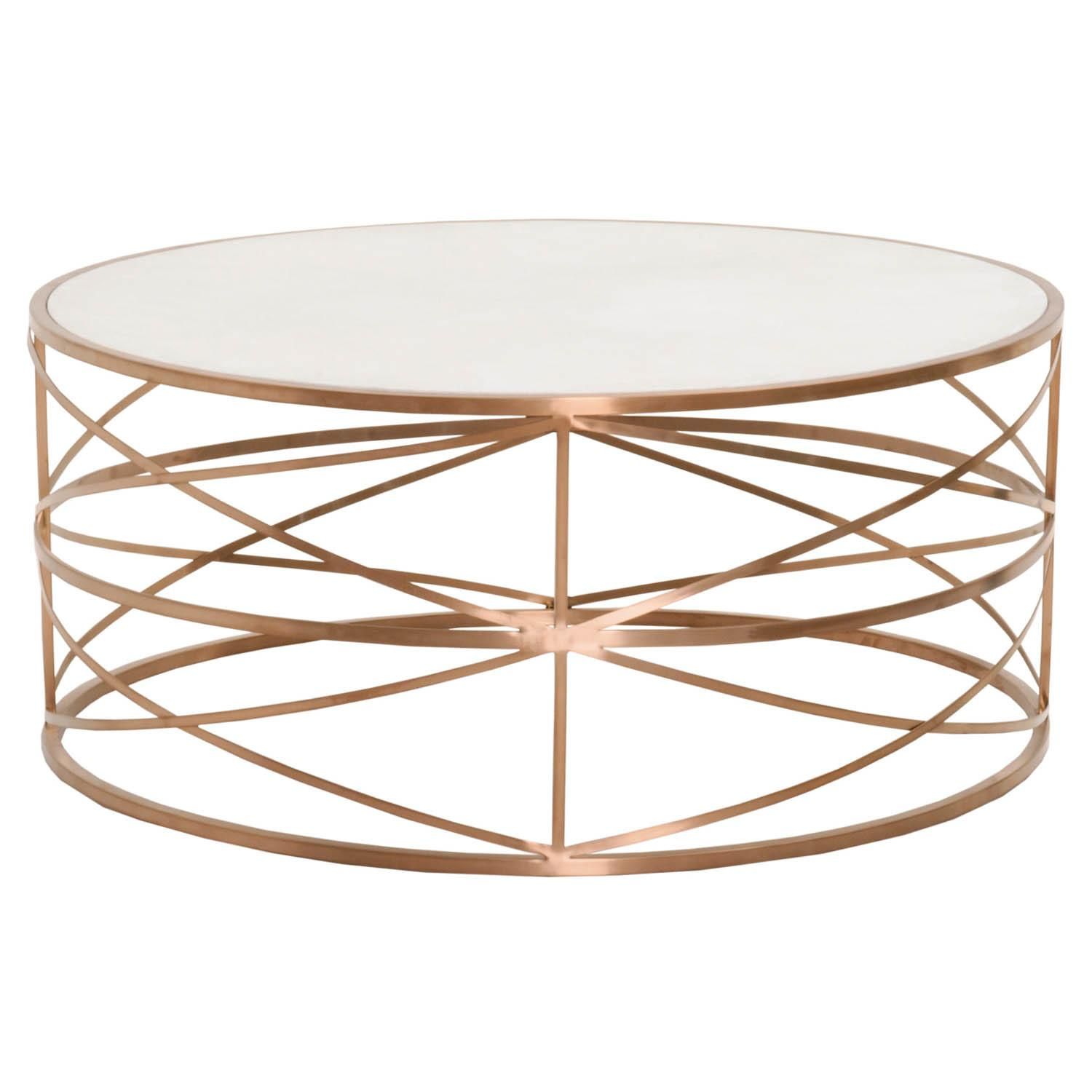 Ultimate Revelation Round Gold Coffee Table