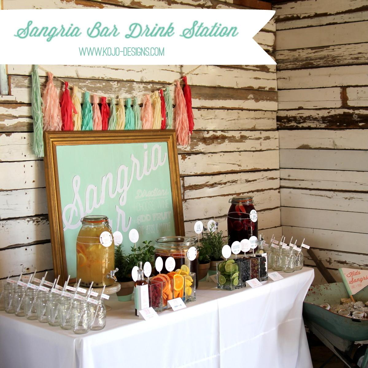 Ultimate Sangria Bar Summer Best Drink Station