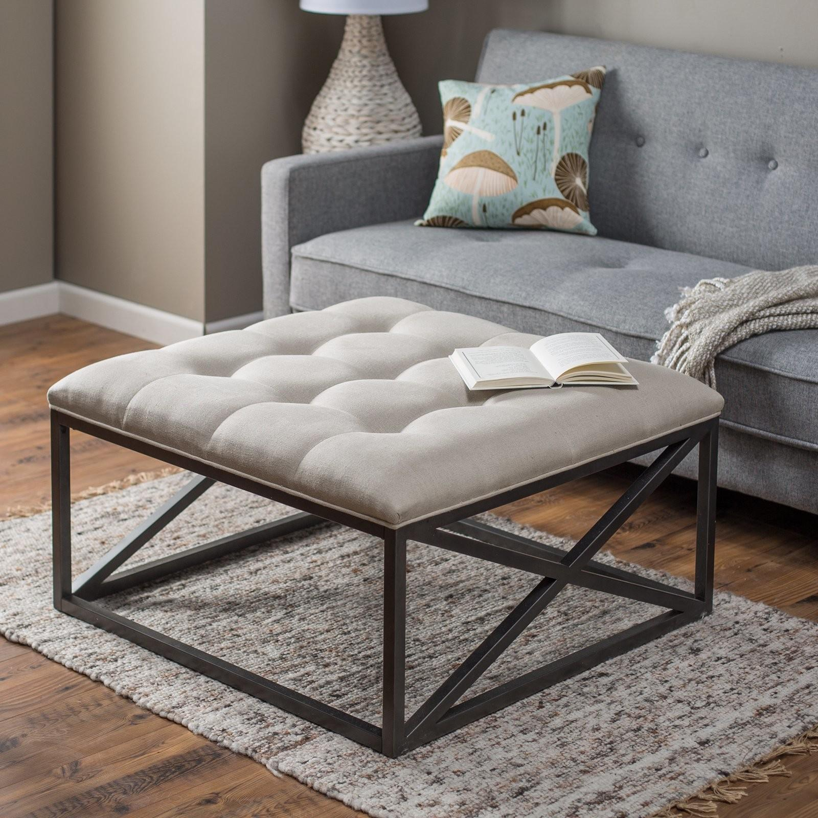Ultimate Tufted Ottoman Coffee Table Decoration Ideas