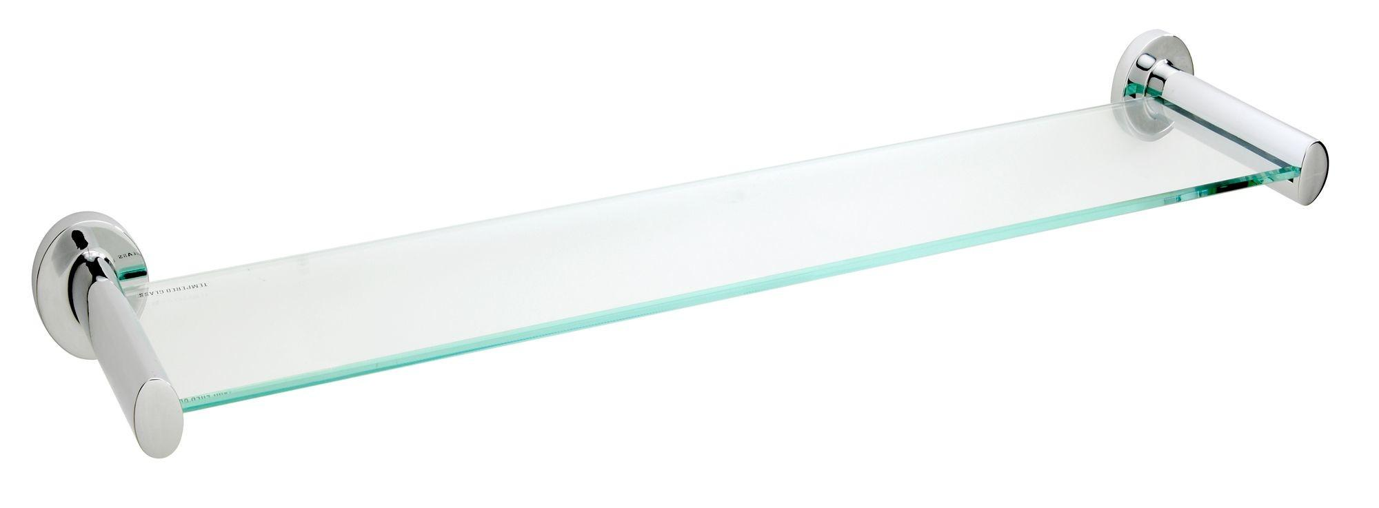Ultimo Clear Glass Shelf 500mm 115mm Departments