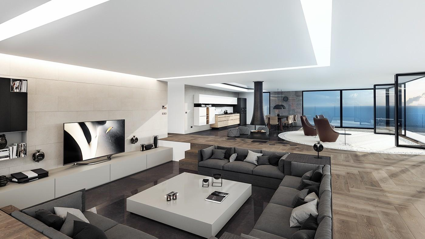 Ultra Luxurious Interiors Decorated Black White