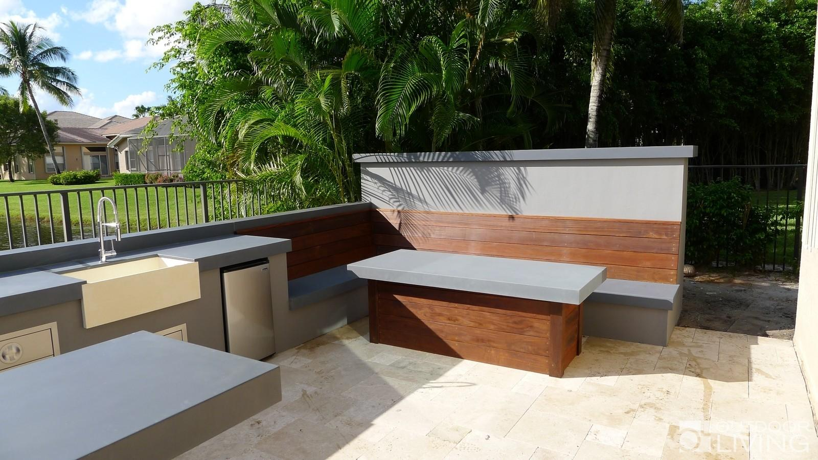 Ultra Modern Outdoor Kitchen Table Bench