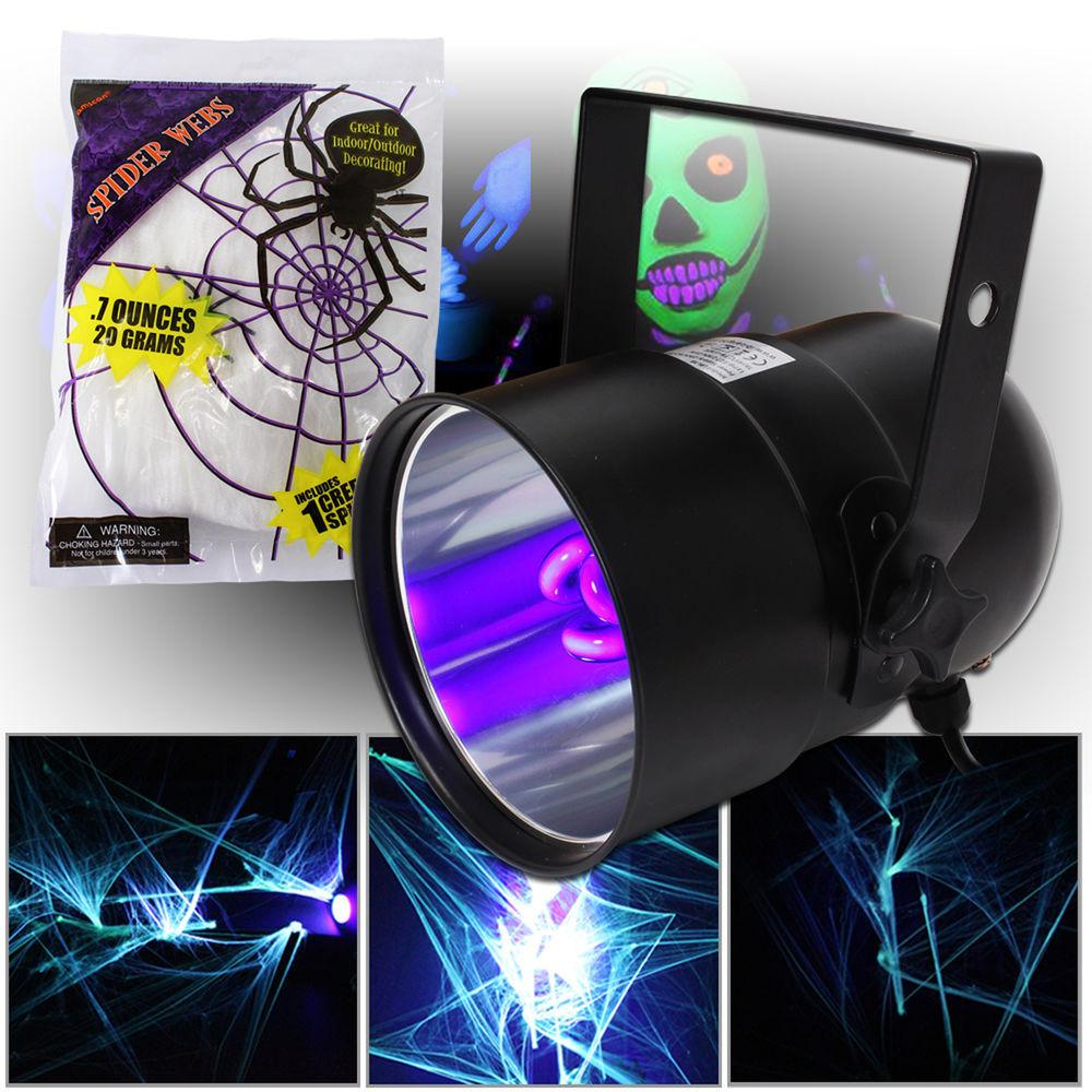 Ultraviolet Glow Can Party Lighting Effect Spider Web