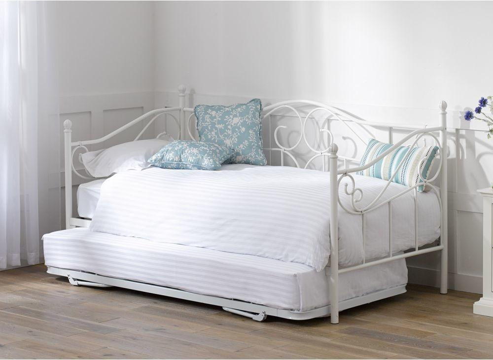 Under Bed Trundle Ivory White