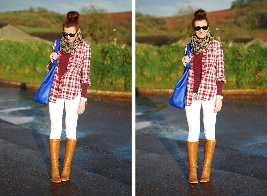 Under Radar Pattern Mixing White Jeans Dressed