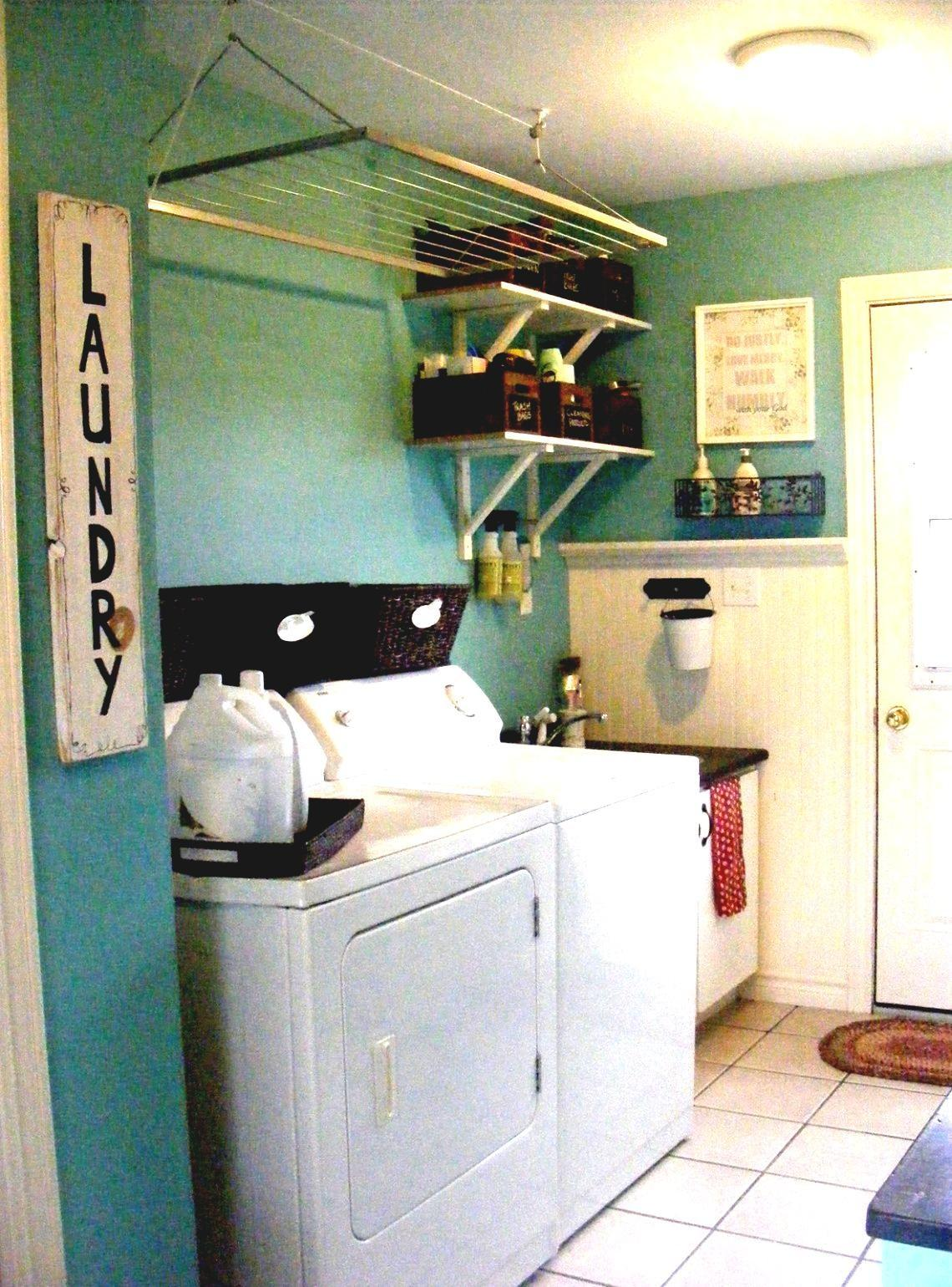Unfinished Basement Laundry Room Makeover Spacious - Decoratorist