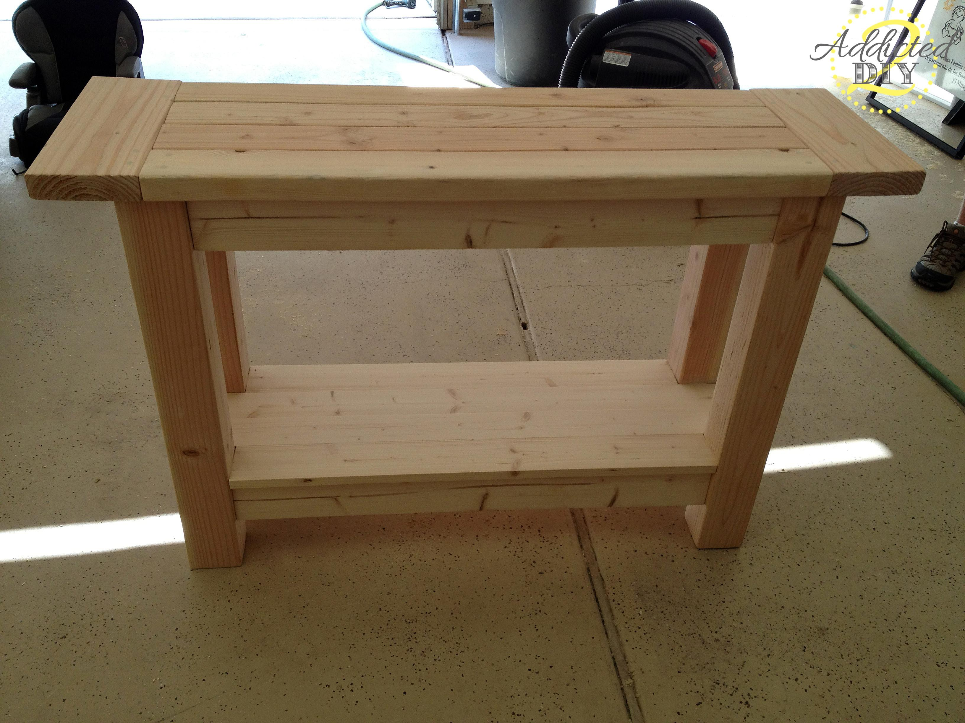 Unfinished Custom Diy Wood Outdoor Console Table