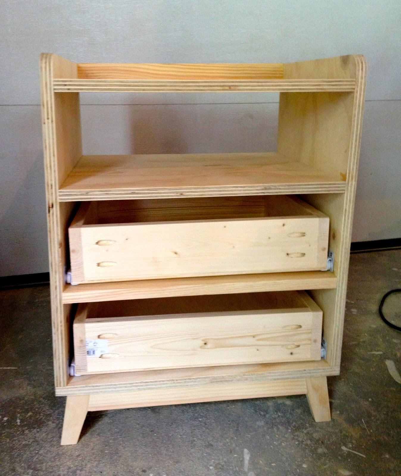 Unfinished Diy Bedside Nightstand Table Storage