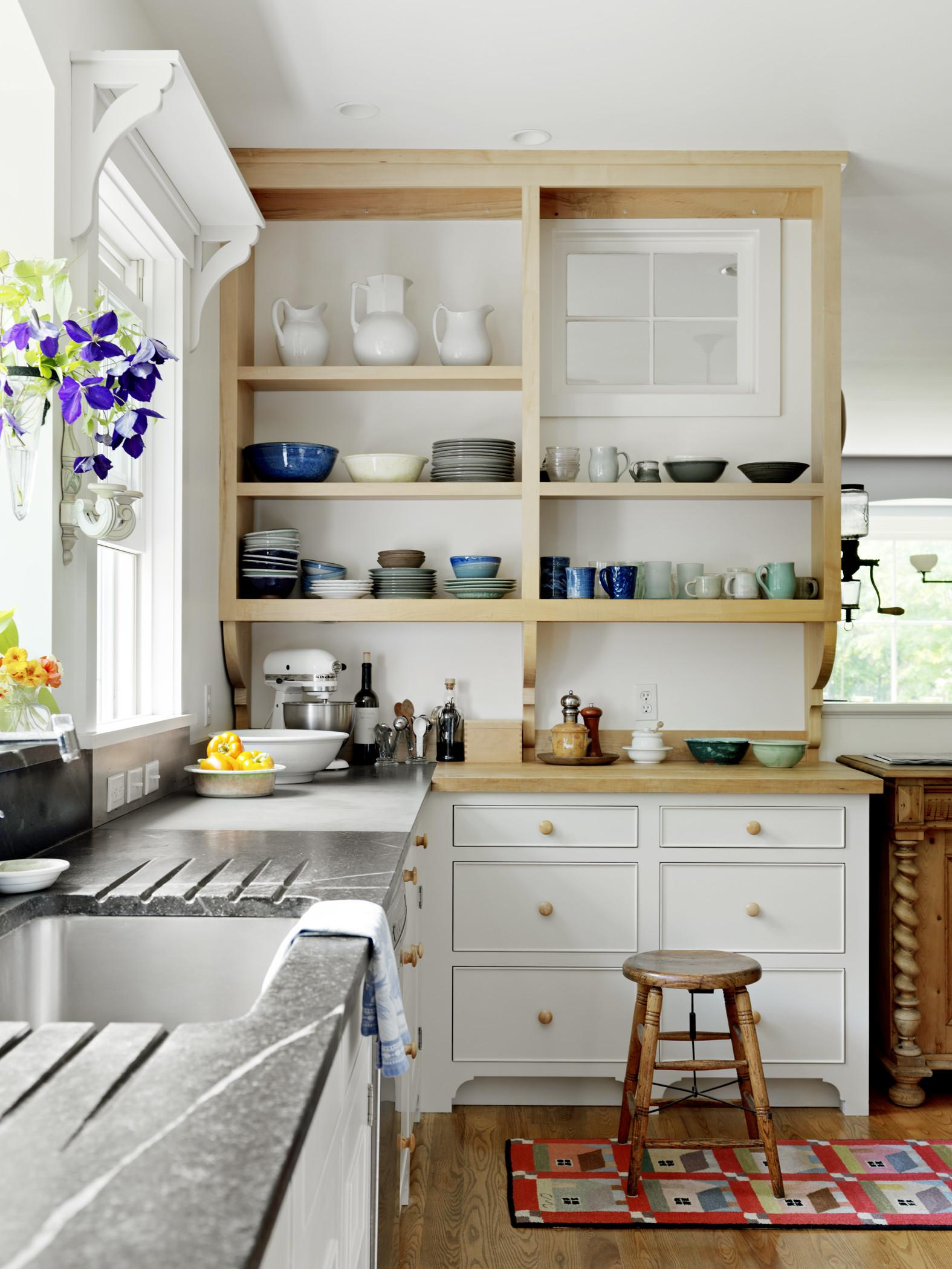 Unfinished Oak Kitchen Cabinets Painted White Wall