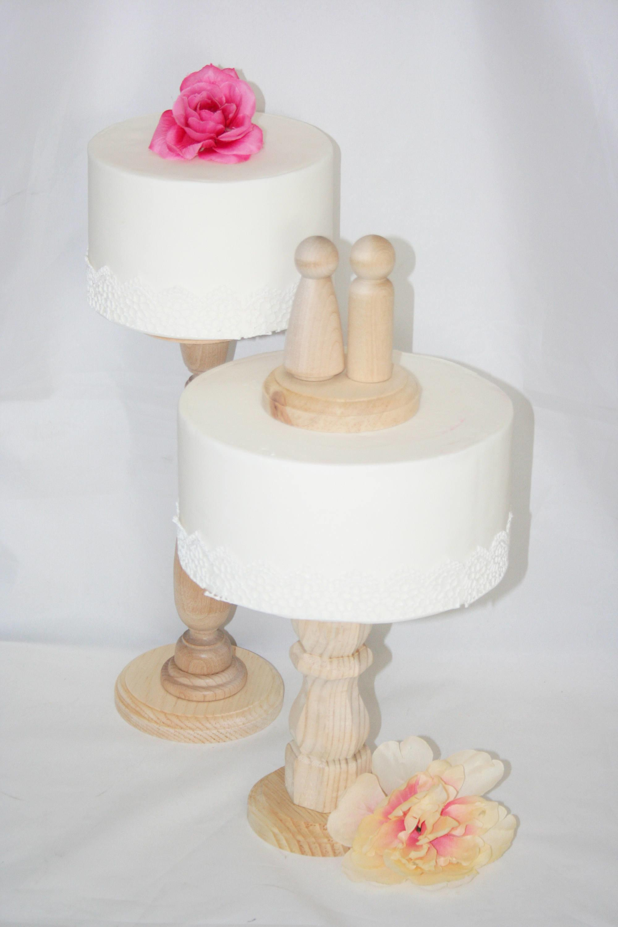 Unfinished Wooden Cake Stands Wedding