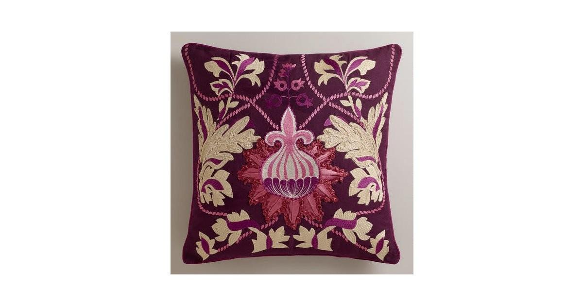 Unfussy Take Florals Try Purple Bulb Throw