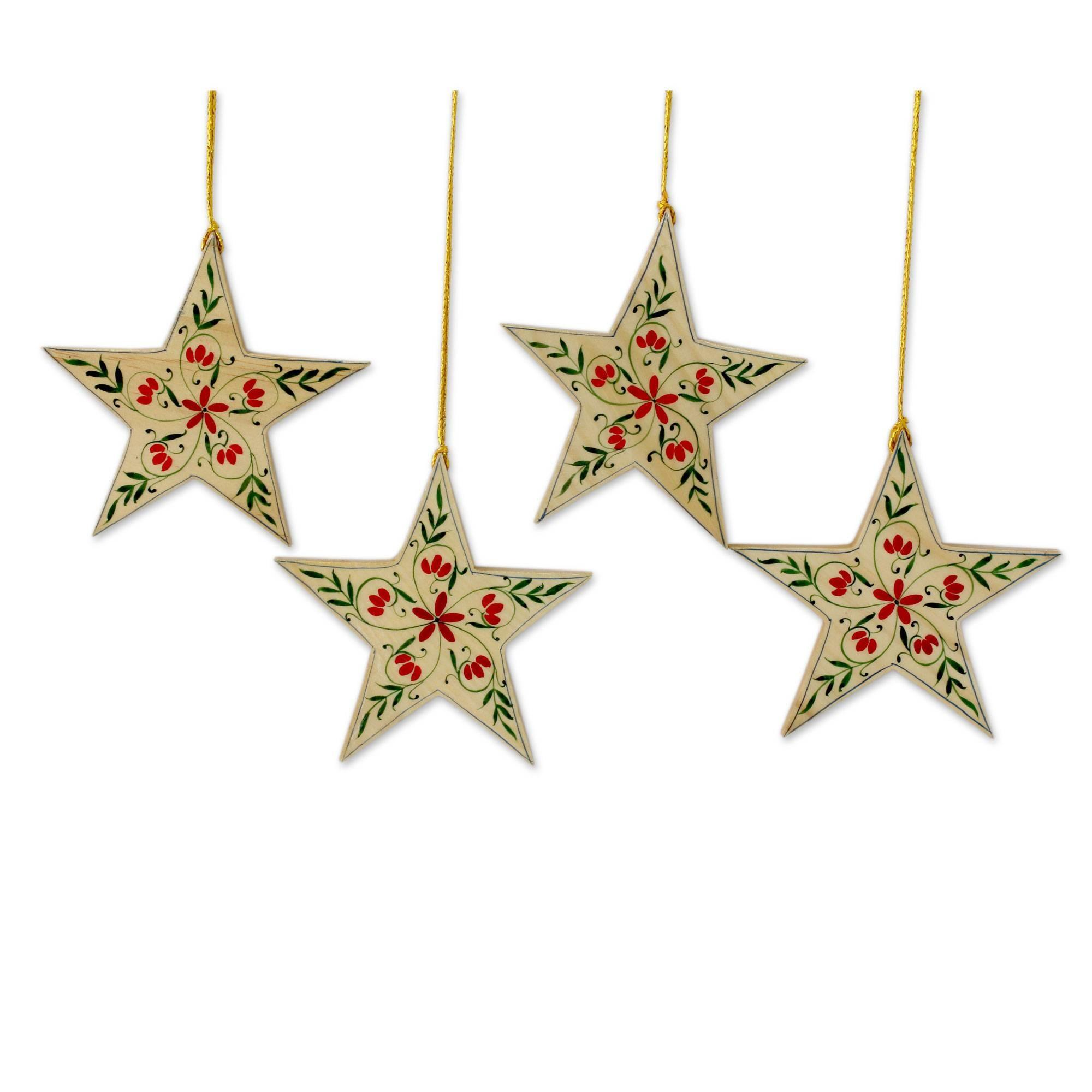 Unicef Market Handcrafted Christmas Star Ornaments