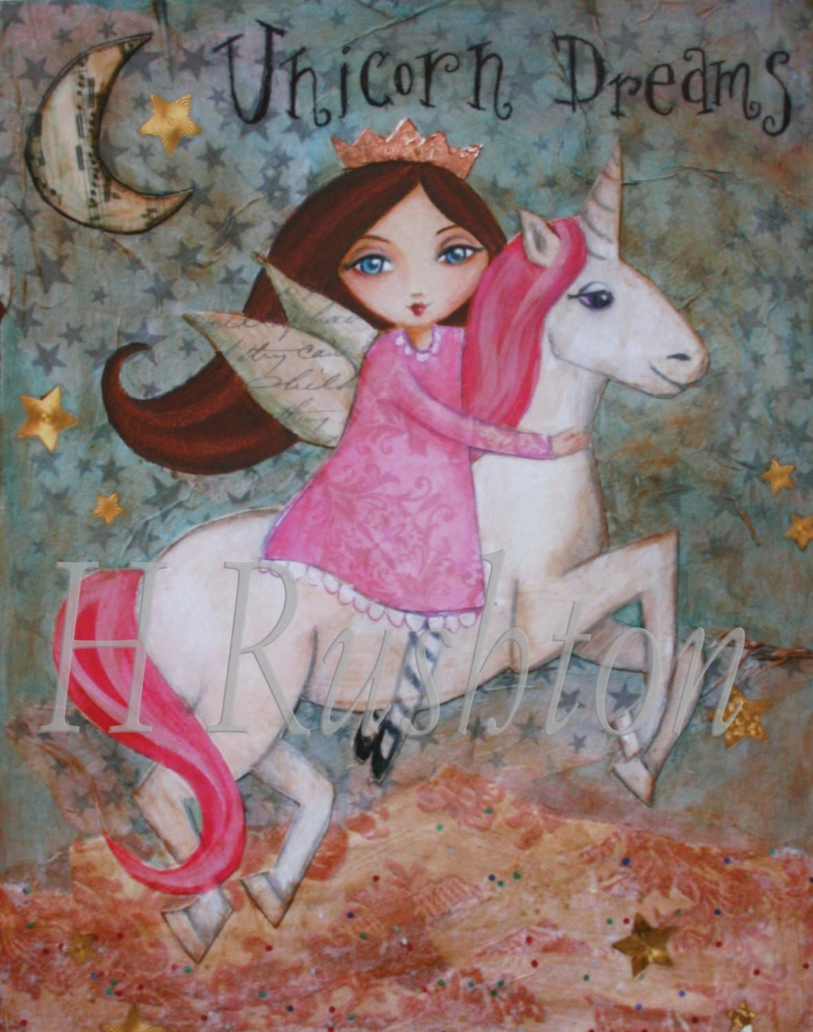 Unicorn Decor Children Art Childrens