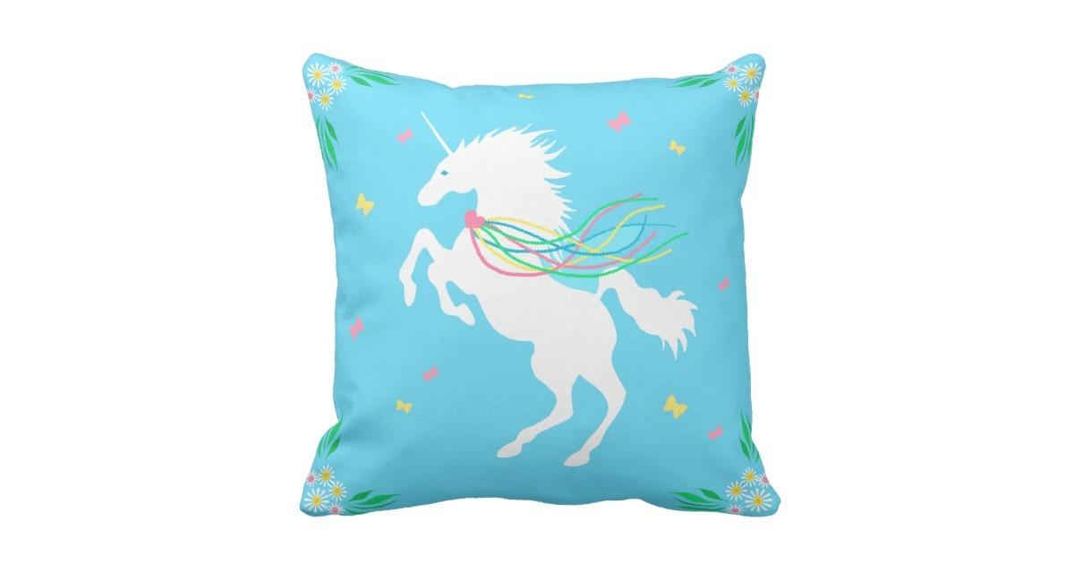 Unicorn Spring Throw Pillow Zazzle