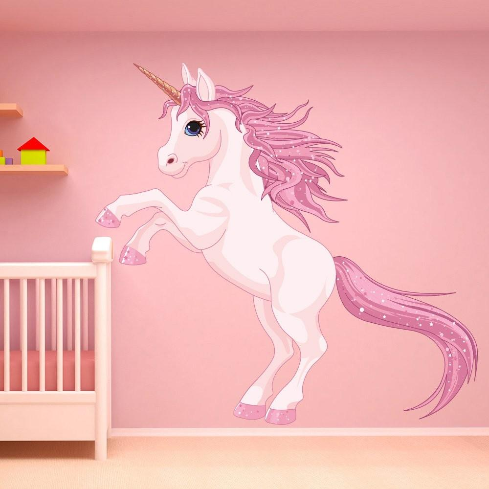 Unicorn Wall Sticker Fantasy Fairy Tale Decal Girls
