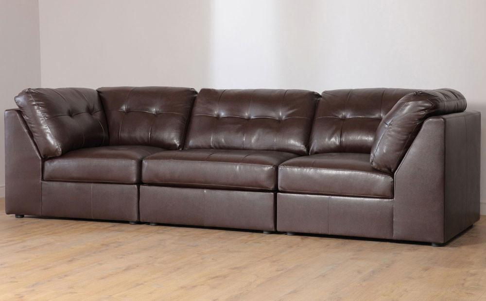 Union Brown Leather Modular Sofas S3net Sectional