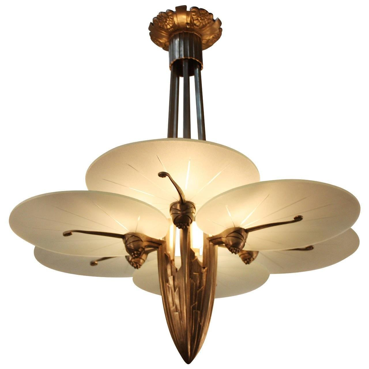 Unique Art Deco Chandelier 1stdibs
