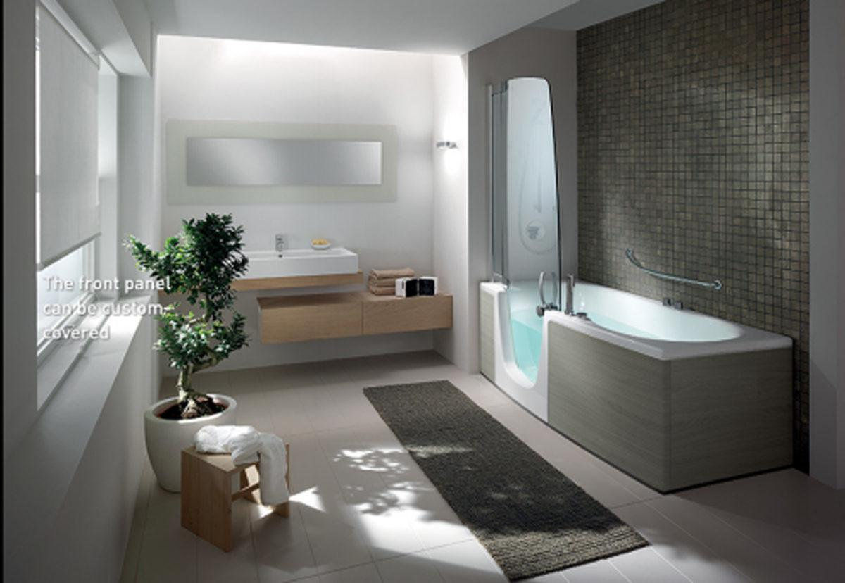 Unique Bathtub Design Ideas Grey Bathroom