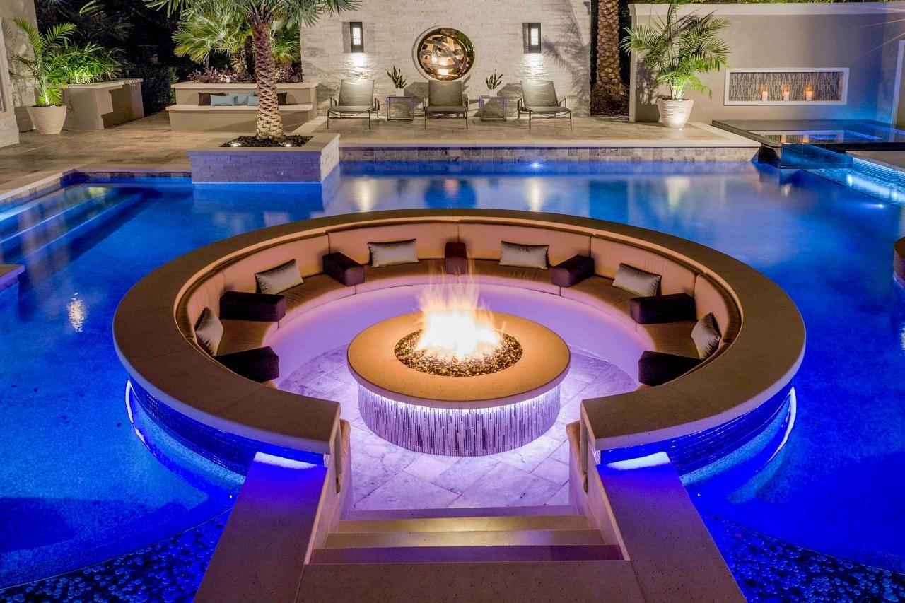 Unique Creative Conversation Pit Sunken Design