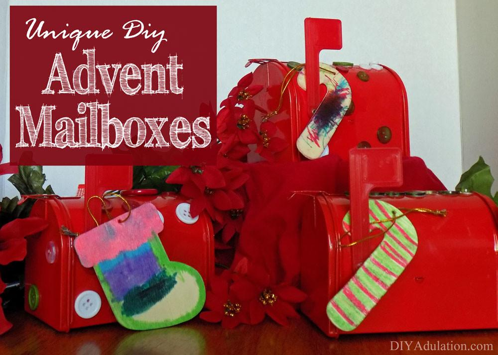 Unique Diy Advent Mailboxes New Twist Old Tradition