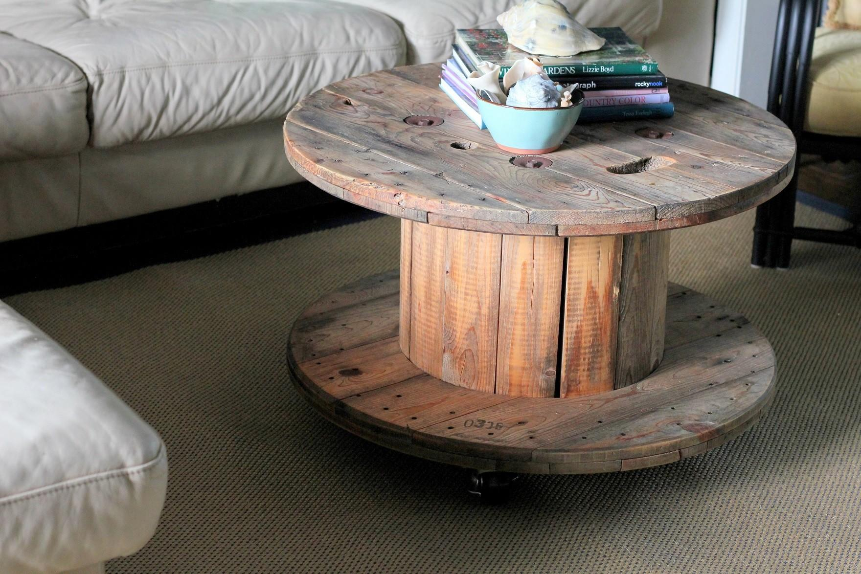 Unique Functional Ways Wire Spool Table