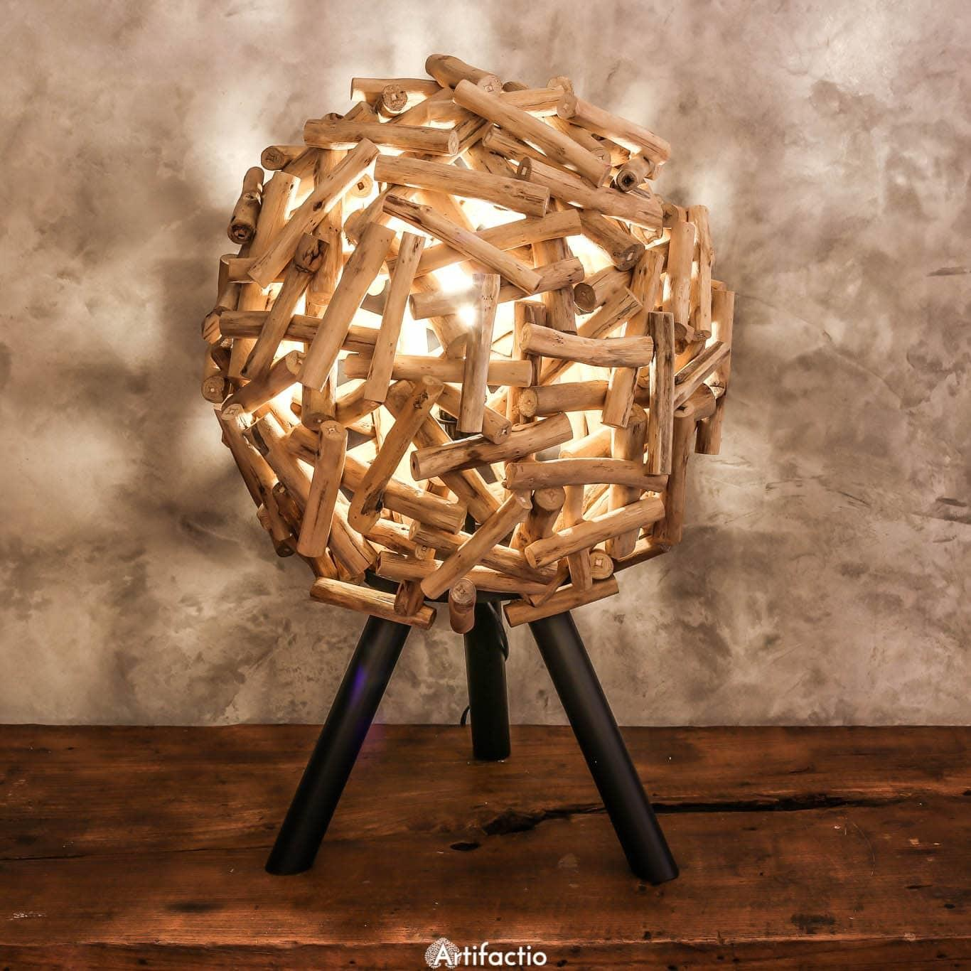 Unique Handmade Driftwood Table Lamp Artifactio