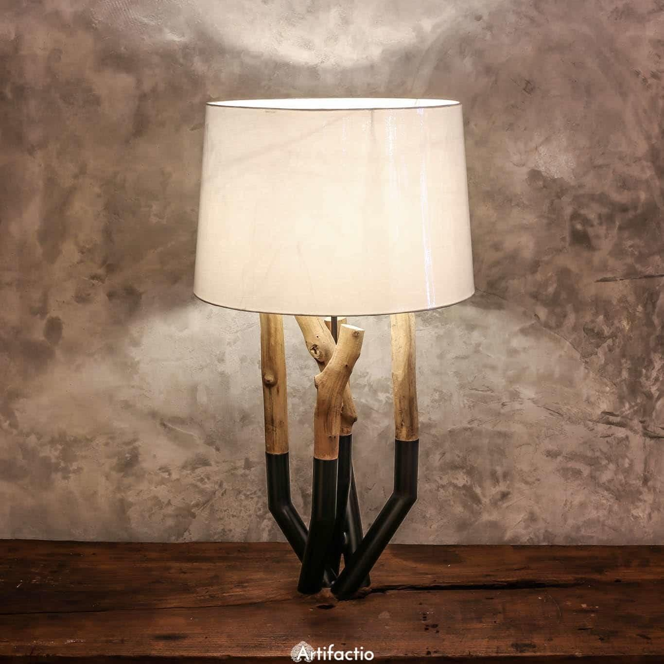 Unique Handmade Metal Driftwood Table Lamp Artifactio