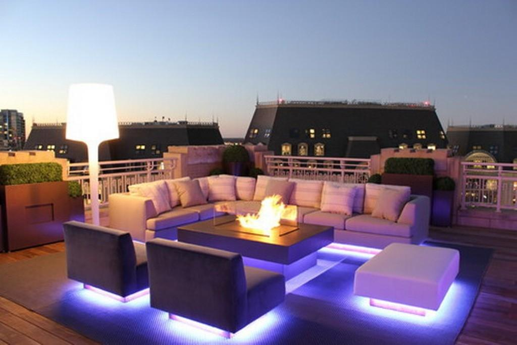 Unique Icy Blue Led Outdoor Lighting Ideas