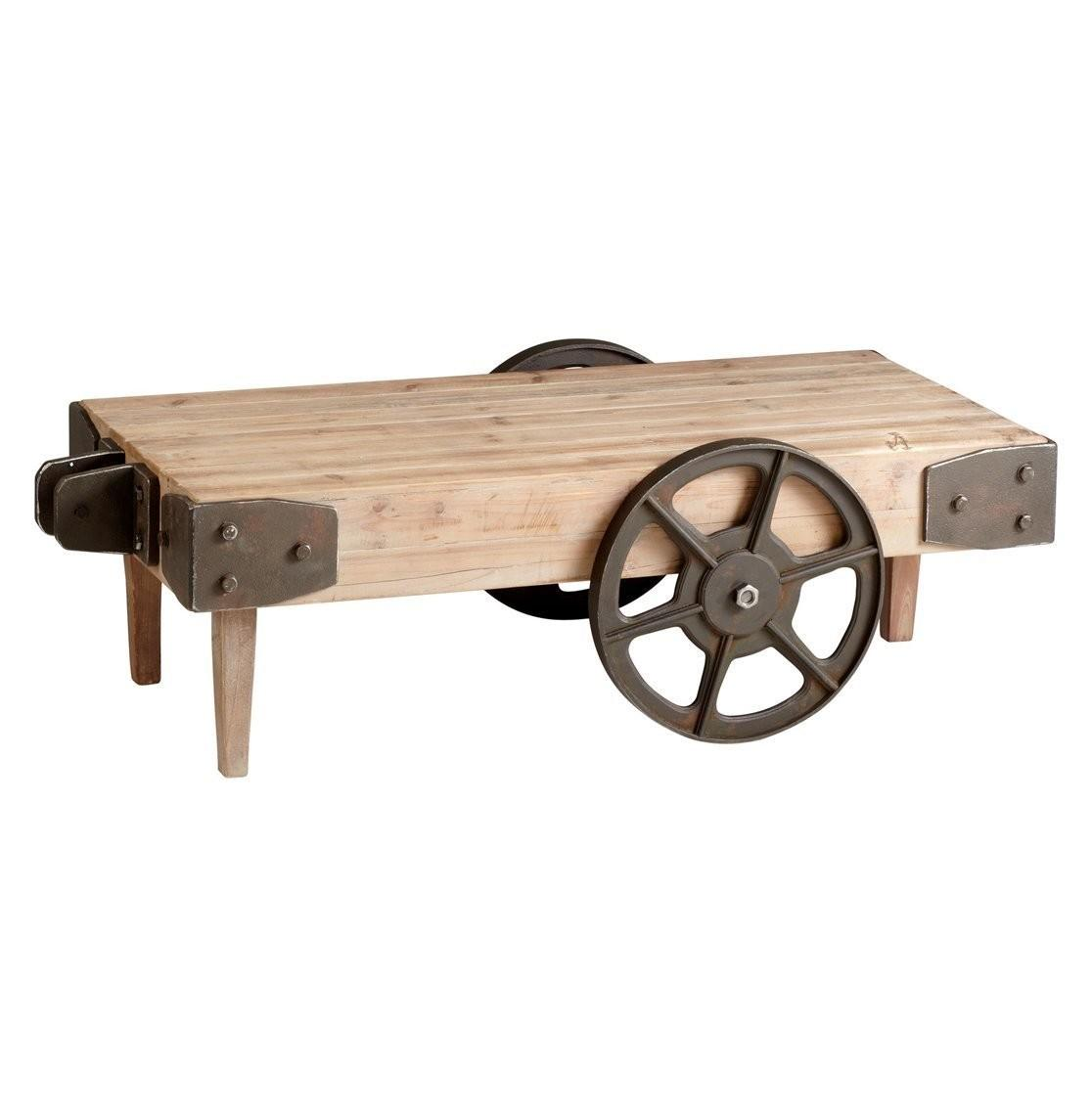 Unique Ideas Rustic Coffee Table Wheels Coffe