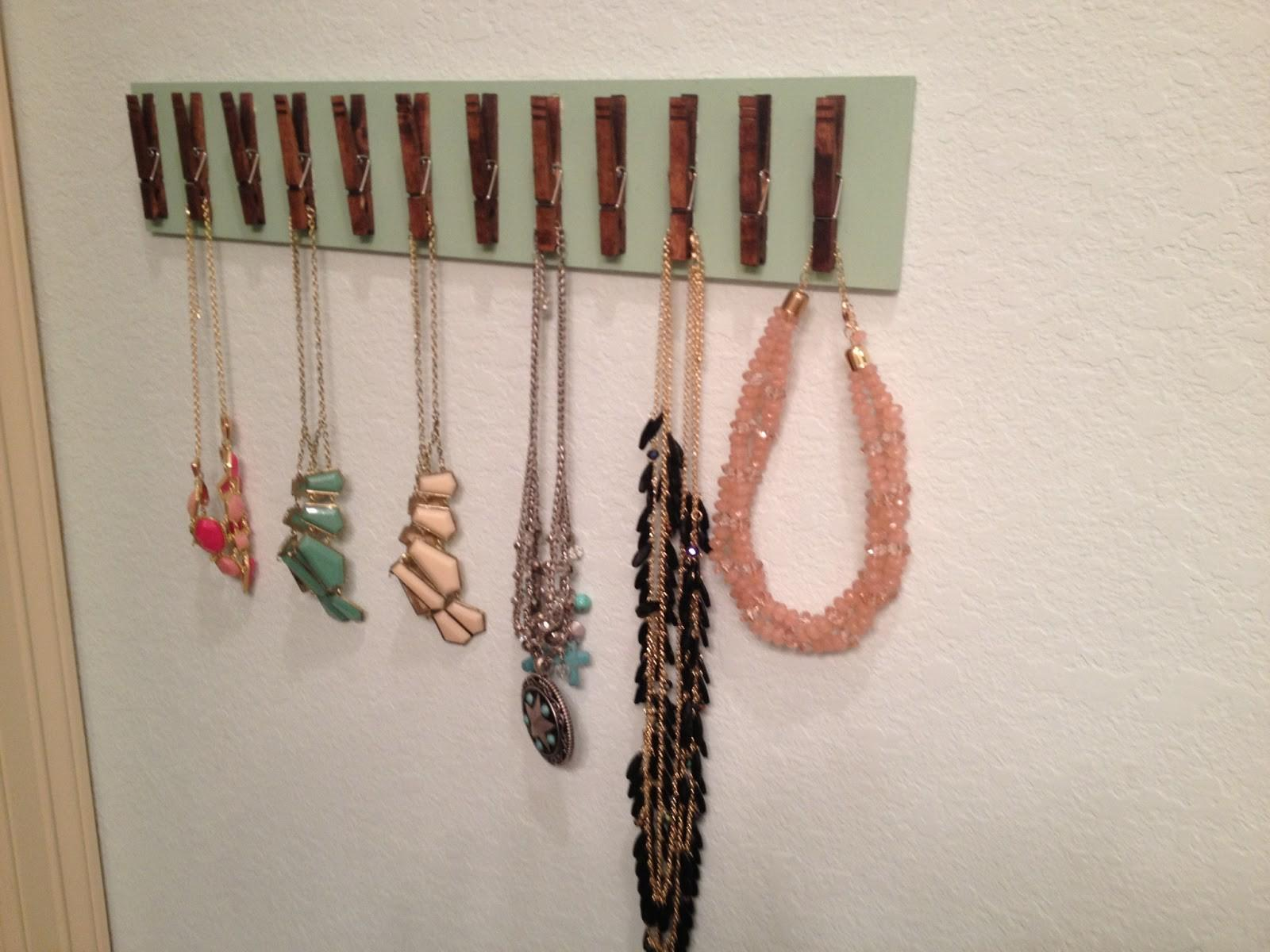 Unique Jewelry Holder Diy Used Wooden Clothespin