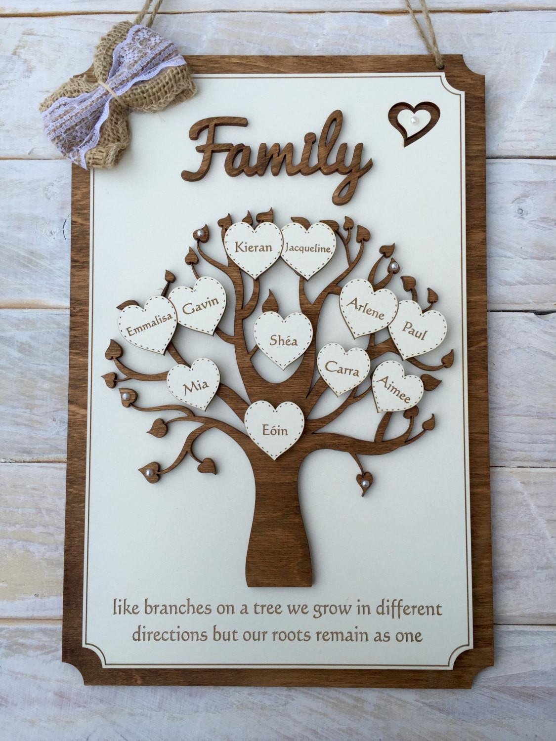 Wooden Plaque Families Are Like Branches East Of India