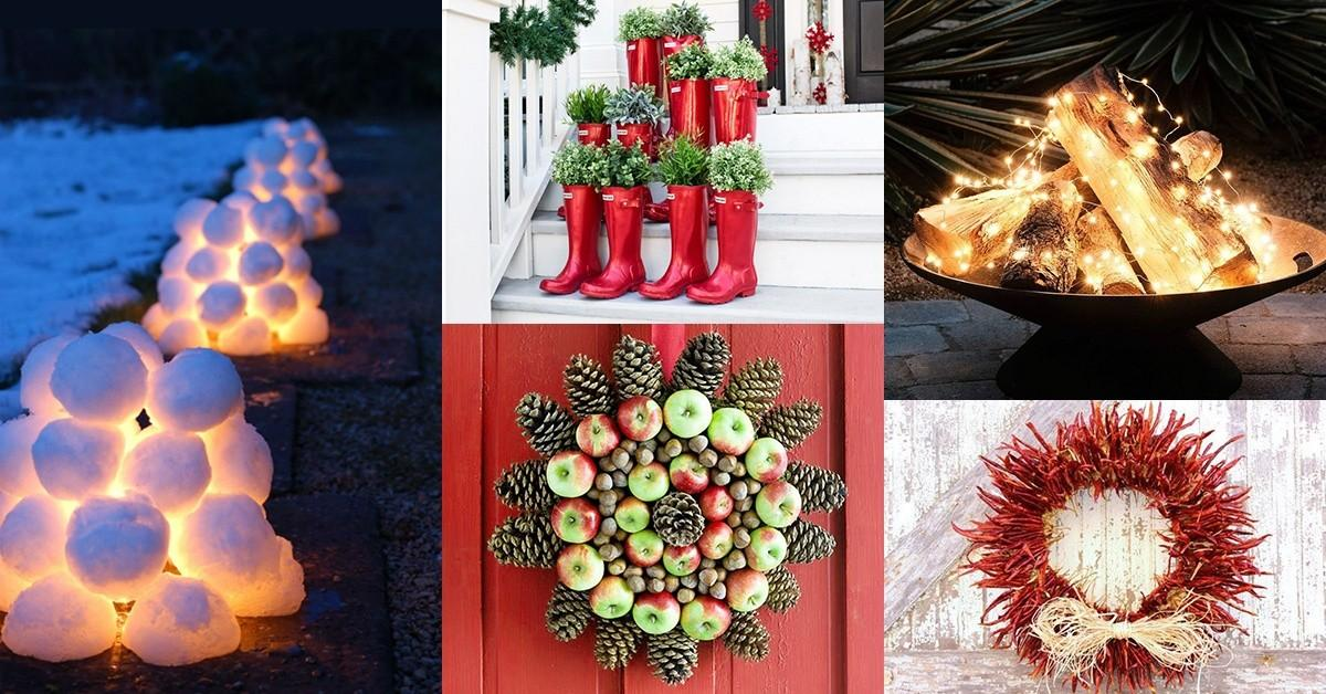 Unique Outdoor Christmas Decorations Garden Ideas