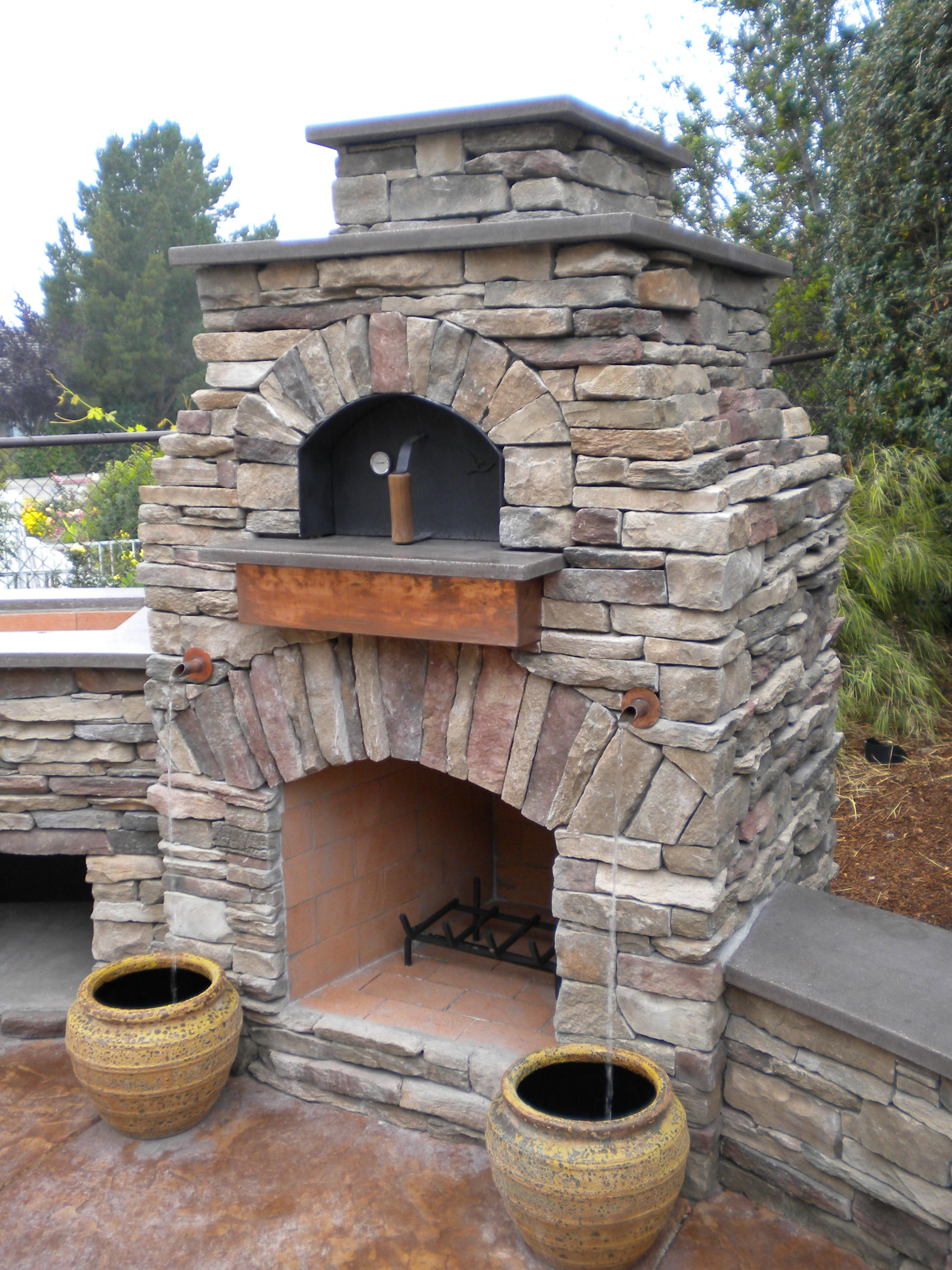 Unique Outdoor Fireplace Pizza Oven