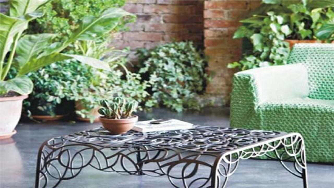 Unique Patio Furniture Ideas Wrought Iron Benches Outdoor