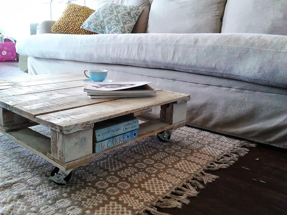 Unique Recycled Industrial Shabby Chic Wood Pallet Coffee