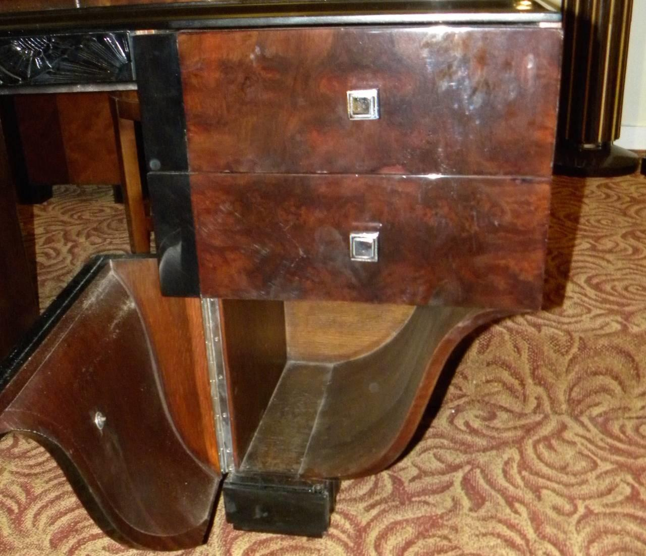Unique Symmetrical Art Deco Desk French Style Sale