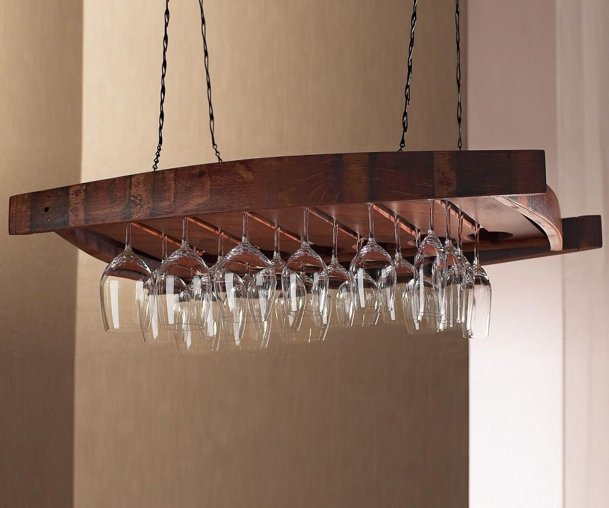 Unique Wall Mounted Wine Glass Rack Stemware Floating