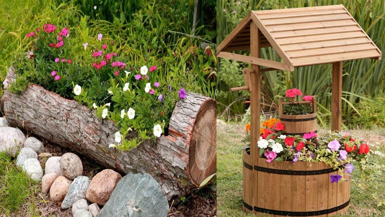 Unique Wooden Flower Planter Ideas Outdoor Planters