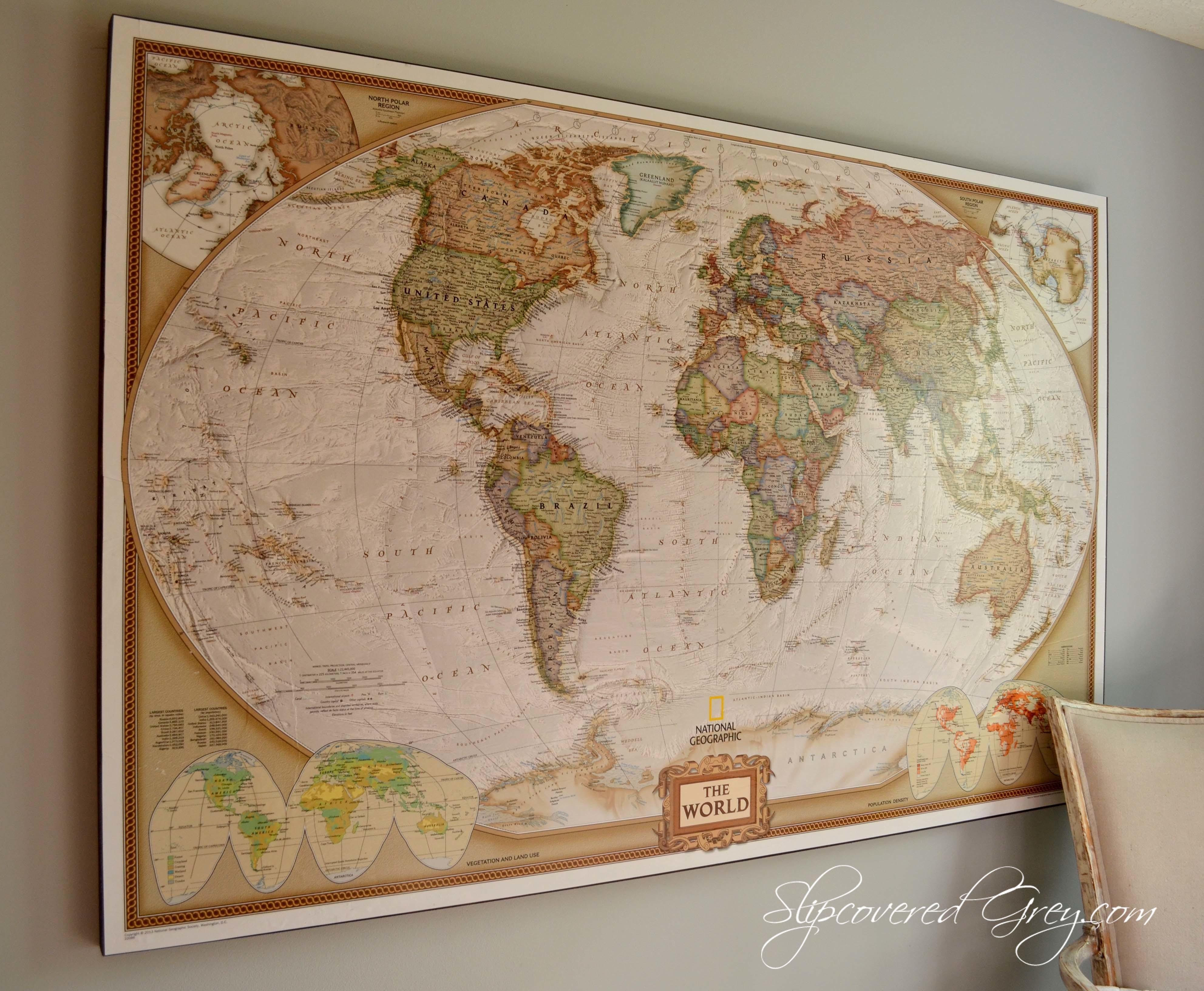 United States Wall Map Framed Thempfa