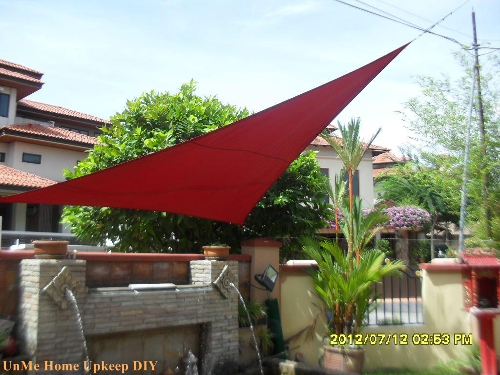 Unme Home Upkeep Diy Sail Shade Your Garden