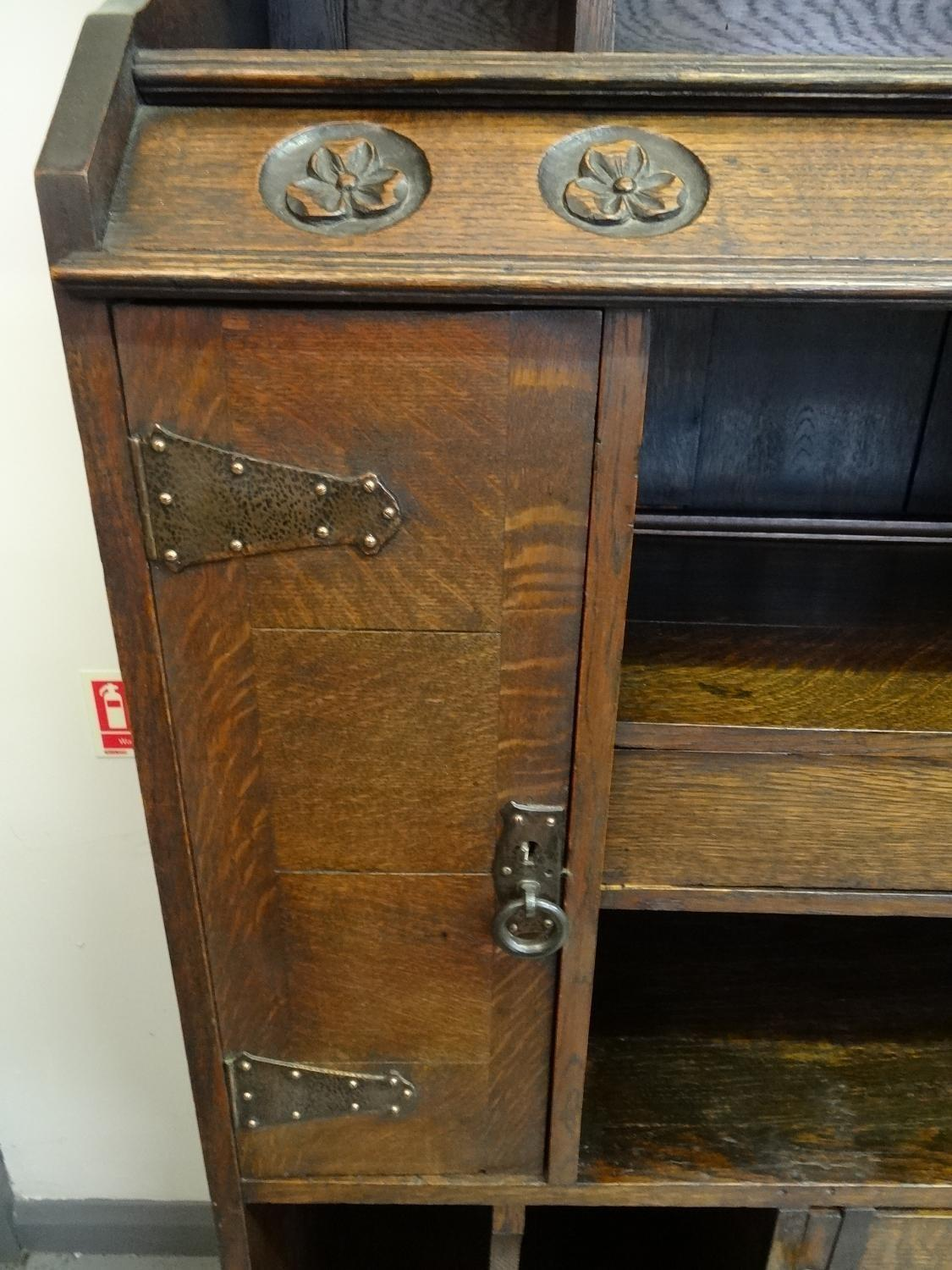 Unusual Arts Crafts Oak Bookcase Cabinet Other Styles
