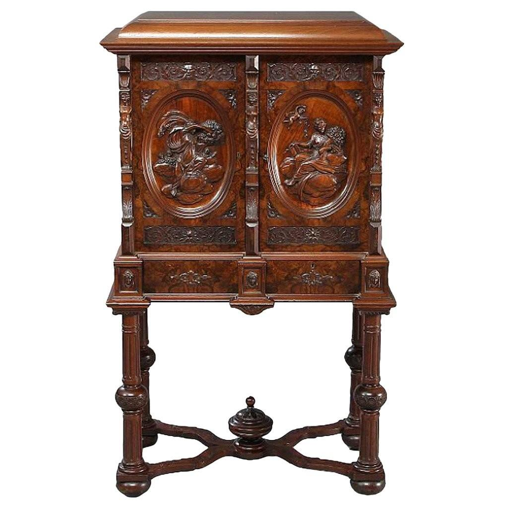 Unusual Danish Lund Renaissance Revival Walnut